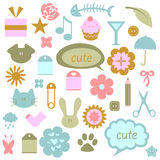 Cute babyish elements vector illustration
