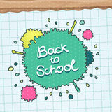 Cute Back to school background Royalty Free Stock Photo