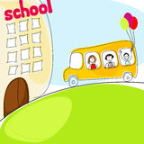 Cute back to school illustration Royalty Free Stock Photo