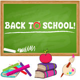 Cute back to school illustration Royalty Free Stock Photography