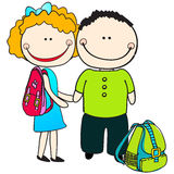Cute back to school illustration Stock Photography