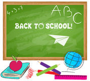 Cute back to school illustration Royalty Free Stock Images