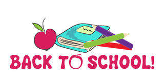 Cute back to school illustration Stock Photos
