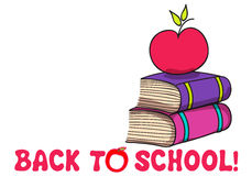 Cute back to school illustration Royalty Free Stock Image