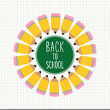 Cute Back to School theme frame Royalty Free Stock Images