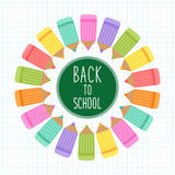 Cute Back to School theme frame Stock Photography