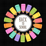 Cute Back to School theme frame Stock Images