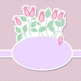 Cute background. Cute vector background with flowers Royalty Free Stock Photography