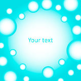 Cute background of blue bubbles for text Stock Images