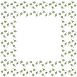 Cute background border frame with leaves grid royalty free illustration