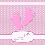 Cute background with childrens footprints. Vector illustration. Stock Images