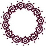 Cute background circle border frame with flower petals royalty free illustration