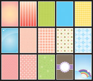 Cute background collection Royalty Free Stock Image