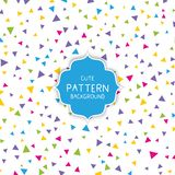 Cute triangle pattern background. Cute background with colourful triangle pattern Stock Illustration