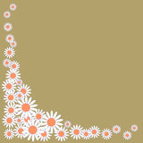 Cute background with daisies on a green background Royalty Free Stock Images