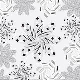 Cute background of different patterns on a white b Stock Images