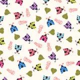 Cute background with ladybugs Stock Photos