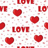 Cute background with love and hearts for Valentine's Day, seamless pattern Royalty Free Stock Photography