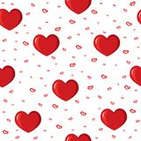 Cute background with love and hearts for Valentine's Day, seamless pattern Royalty Free Stock Photos