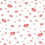 Cute background with love and hearts for Valentine's Day, seamless pattern Royalty Free Stock Image
