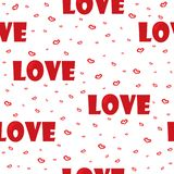 Cute background with love and hearts for Valentine's Day, seamless pattern Royalty Free Stock Photo