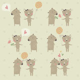 Cute background Stock Image