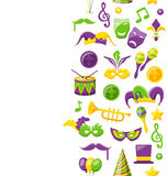 Cute Background for Mardi Gras and Carnival Royalty Free Stock Photography