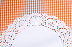 Cute background with a napkin Royalty Free Stock Images