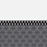Cute background with patterns and peas - Illustration. Cute background with patterns and peas in gray and black tones royalty free illustration