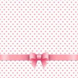 Cute background with pink ribbon Royalty Free Stock Photography