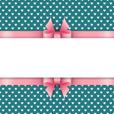 Cute background with pink ribbon Royalty Free Stock Photo