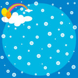 Cute background of rainbow and steam vector Stock Photos