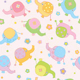 Cute background , small baby elephants Stock Image