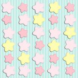 Cute background with stars as applique garland. For your decoration Stock Image