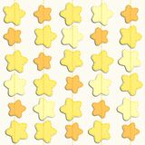 Cute background with stars as applique garland. For your decoration Royalty Free Stock Images