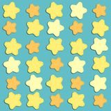 Cute background with stars as applique garland. For your decoration Stock Photo