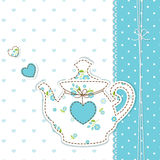 Cute background with teapot Stock Images