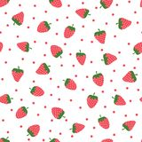 Cute Background With Strawberries Royalty Free Stock Photos