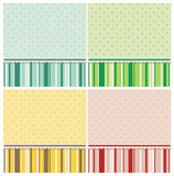 Cute backgrounds in different colors. Royalty Free Stock Photography