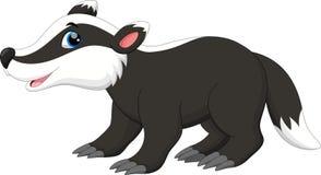 Cute badger cartoon Stock Photography