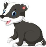Cute badger cartoon Stock Photo
