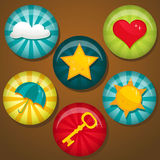 Cute badges Royalty Free Stock Photos