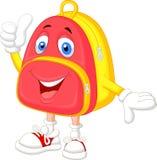 Cute bag cartoon with thumb up Royalty Free Stock Photos