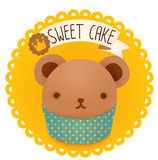 Cute bakery badge and label Royalty Free Stock Photo