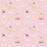 Cute Balerina Background Royalty Free Stock Image