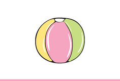 Cute ball Illustration. Vector Illustration. Isolated on white background Royalty Free Stock Photos