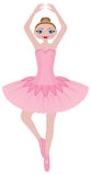 Cute Ballerina Stock Photos