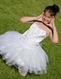 Cute ballerina Stock Images