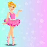 Cute ballerina girl. Very high quality original trendy vector illustration of a cute ballerina girl or cartoon character or dancing child Stock Photos