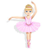 Cute ballerina in a pink tutu. Vector illustration. Royalty Free Stock Photography